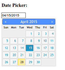 date picker javascript