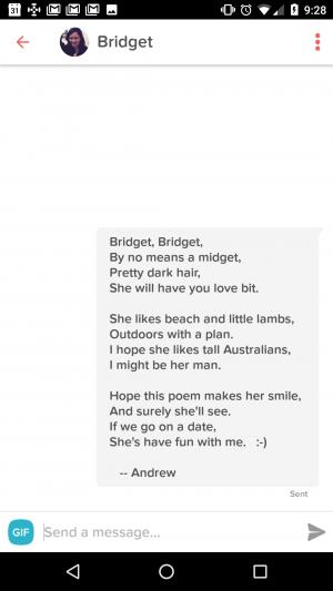 Tinder poems - NoskeWiki